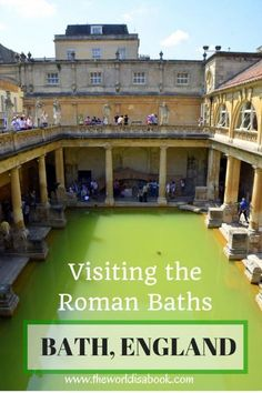 Guide and tips for visiting the Roman Baths in Bath, England with kids - See the high-tech museum that surrounds the ruins. This makes for a great day trip from London with kids. #Bath