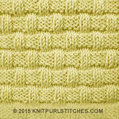 There are many variations of basket weave knitting stitch. This version is a nice choice if you like a sturdy dishcloth with a woven texture which soaks up water or other liquid spills easily and quickly.