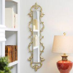 Gold Fleur-de-Lis Framed Mirror, 11x43 | Kirklands