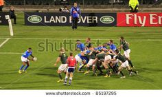 Rugby World Cup 2011 match between South Africa and Namibia at the North Shore Stadium in Auckland, New Zealand on September - stock photo Rugby World Cup, September 22, North Shore, Auckland, New Zealand, South Africa, Stock Photos, Sports, Photography