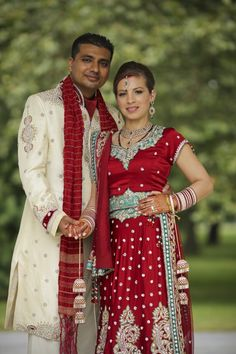 14a multicultural indian portrait red bridal lengha. More wedding photos: http://www.indianweddingsite.com/multicultural-fusion-new-york-indian-wedding-clarkwalker-studio/