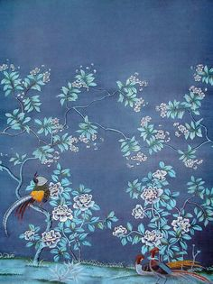 Chinoiserie wallpaper by Joyway Papers                                                                                                                                                                                 More