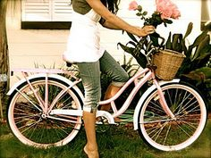 Pink Schwinn bike with basket