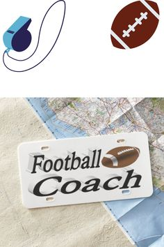 License plate for football coaches. Available in plastic or aluminum.