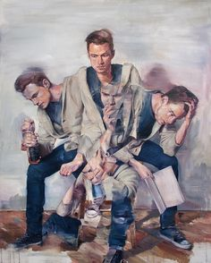 These beautifully complex portraits convey a sense of internal struggle in a very outward way. Vancouver-based artist Adam Lupton& series, What& in Store Action Painting, Painting & Drawing, Painting Inspiration, Art Inspo, Psy Art, A Level Art, Canadian Artists, Portrait Art, Vancouver