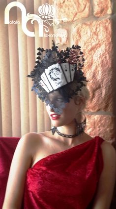 Fascinator from my collection for horse racing Vodacom Durban July 2016/ From manually perforated fabric/ Designed & handmade by Natalia Alexandrova