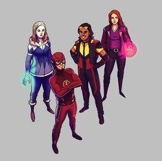 Flash Team: Catlin Snow/Killer Frost, Cisco Ramon/Vibe, Kelly Frye/Plastique