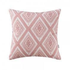 Navy geometric embroidered throw pillows for living room modern couch pillows Pink Pillow Covers, Pink Throw Pillows, Toss Pillows, Accent Pillows, Couch Pillows, Pink Home Accessories, Pillow Embroidery, Lace Embroidery, Pink Couch