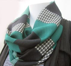 Houndstooth Infinity Scarf Infinity Scarf by DiscoLemonadeDesigns, $24.99