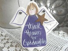 Goddaughter Salt Dough Ornament For more ~ https://cookiedoughcreations.net/collections/baptism-christening-communion-ornaments