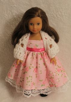 Mini AG 6.5 inch Doll Pink Dress and Shawl
