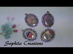Tutorial: Ciondolo cammeo con immagine e resina (altered art resin jewelry)