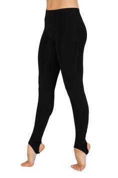 Private Label Manufacturer Black Broad Stirrup Leggings Wholesale