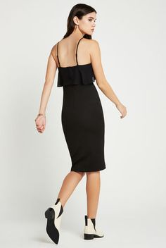 Lace Yoke Sheath Dress