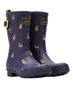 Loving this Navy Dog Mollywelly Rain Boot - Women on #zulily! #zulilyfinds