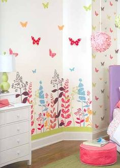Inspiration for wall in bedroom.