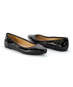 Love this Crowne Comforteur Black London Eye Leather Flat by Crowne  Comforteur on #zulily!