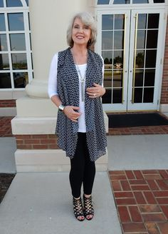 Fifty, not Frumpy: Covered Perfectly Vest and Tunic.. Not completely loving this but it's in the realm of age-appropriate i'd prefer