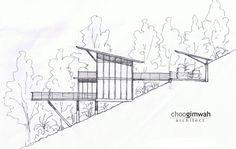 A Casa Deck,Fachada Lateral Esquerda