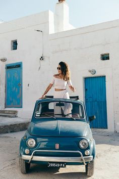 Guerlain-Terracotta-Summer_2015-Polignano_a_Mare-Fiat_600-Striped_Suite-Sabo_Skirt-Crop_Top-Summer-Ray_Ban_Sunnies-Summer-Outfit-Collage_Vintage-16