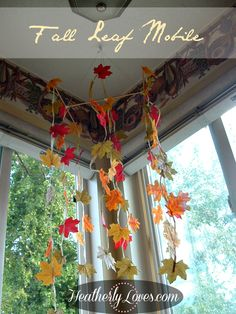 Heatherly Loves: ::Fall Leaf Mobile::