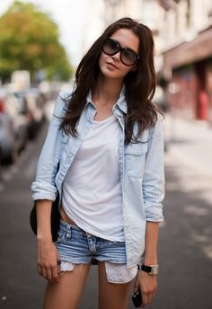 double denim (why can't i look like this in such basic pieces??)