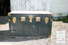 old steamer trunk before