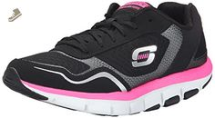 Skechers Women's Liv High Line Fashion Sneaker, Black/Hot Pink, 6 M US - Skechers sneakers for women (*Amazon Partner-Link)
