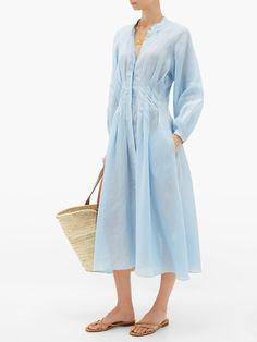 Shop our edit of women's designer Dresses from luxury designer brands at MATCHESFASHION Beach Wear Dresses, Casual Dresses, Summer Dresses, Pin Tucks, Parisian Style, Dress To Impress, London, Beachwear, Spring Fashion