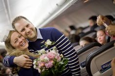 A Memorable Unusual Wedding at 35000 Feet in the Mid Air Wedding News, Wedding Events, How To Memorize Things, Wedding Dresses, Bride Dresses, Bridal Gowns, Wedding Dressses, Bridal Dresses