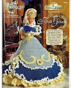 Ladies of Fashion Suzettes Paris Ball Gown Fashion Doll  Crochet Pattern  The Needlecraft Shop 962507.