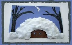 A hibernating bear!  Perfect for a winter unit teaching about animals and hibernation...