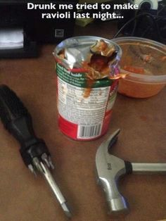 This engineer. | 23 Drunk People Who Failed So Hard At Food They Basically Won