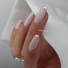 Frensh Nails, Chic Nails, Nude Nails, Stylish Nails, Swag Nails, Hair And Nails, Elegant Nail Designs, French Nail Designs, Elegant Nails