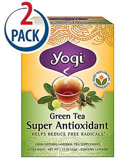 Yogi Herbal Tea Green Super Anti-Oxidant Use as a steam facial.  Following the minute or two of steaming, apply to face and neck.  No need to rinse off.