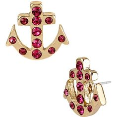 Betsey Johnson Anchor Stud Earring ($25) ❤ liked on Polyvore