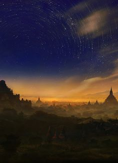 Thousand-pagoda fields, Bagan, Myanmar