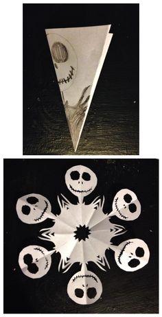 DIY The Nightmare Before Christmas Jack Skellington Paper Snowflake Pattern