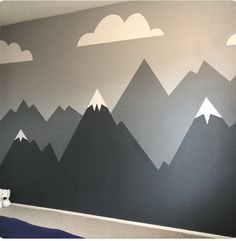 Latest Screen Order in the children's room for all the toys is not easy! With th. - besten Bilder von Kinderzimmer Ideen Junge in Boys Bedroom Decor, Baby Bedroom, Baby Room Decor, Nursery Room, Nursery Decor, Clouds Nursery, Bedroom Ideas, Mountain Mural, Mountain Nursery