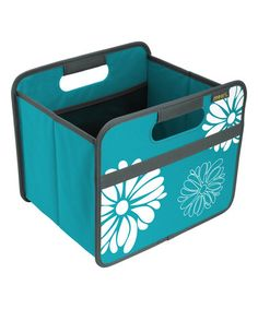 This Azure Blue Floral Small Foldable Storage Box is perfect! #zulilyfinds
