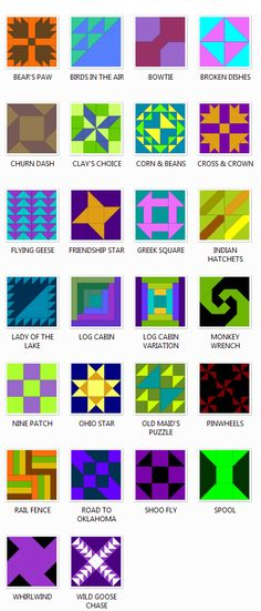 Traditional Quilt Block Patterns. Some of these blocks have other names that they're commonly identified by. How many have you made?