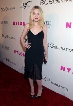 Dakota Fanning Little Black Dress - Dakota Fanning Looks - StyleBistro