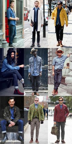 Men's Street Style - The Denim Shirt