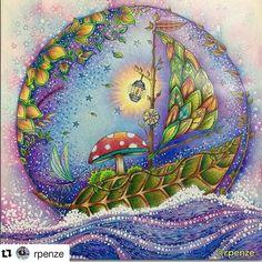 🎨by @rpenze ・・・ #secretgarden #조해너배스포드 #비밀의정원 #johannabasford #picoftheday #bestoftheday #photooftheday #adultcoloringbook #coloringbookforadult #colorist #coloringisfun #mandala #art #artoftheday #artist #zen #antistress #arttherapy #colortherapy #fangtianyu #colorful #likeit #lostocean #lostoceancoloringbook #lostoceancolors