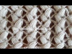 Tığ işi Laleler Yelek Lif ve Şal Modeli - YouTube