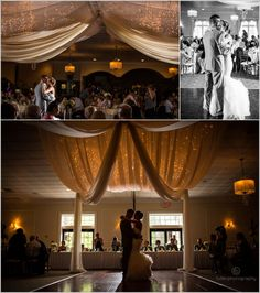 First dance between husband and wife at a Stokesay Castle wedding in Reading Pennsylvania