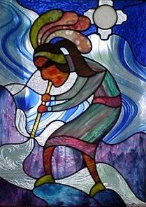 Southwestern Stained Glass -- Santa Fe Series Artworks