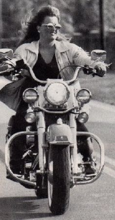 Wynonna Judd riding one of her Harley Motorcycle's.