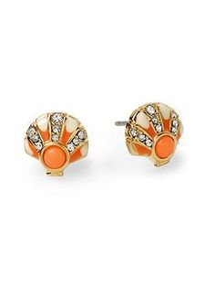 Juicy Couture Seashell Stud Earring | Piperlime