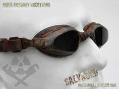 Post apocalyptic goggles - SALVAGED Ware enquiries always welcome @ www.markcordory.com https://www.steampunkartifacts.com